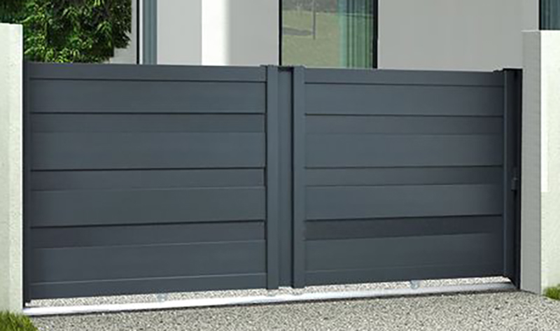 HECHO Portail coulissant aluminium Gris RAL 7016